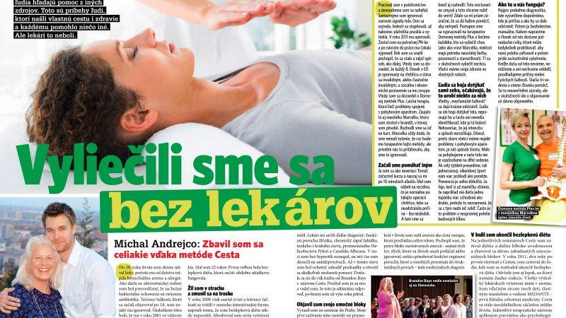 Michal Andrejco: Zbavil som sa celiakie vďaka metóde Cesta, časopis Nový čas pre ženy