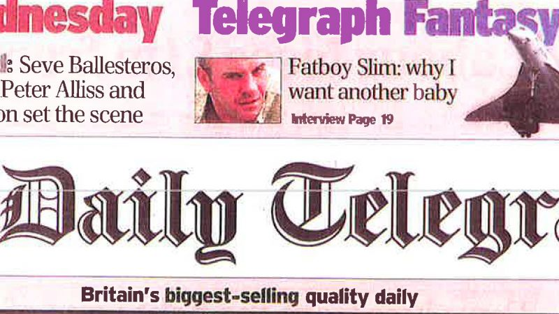 Can my GP say no - The Daily Telegraph 2001