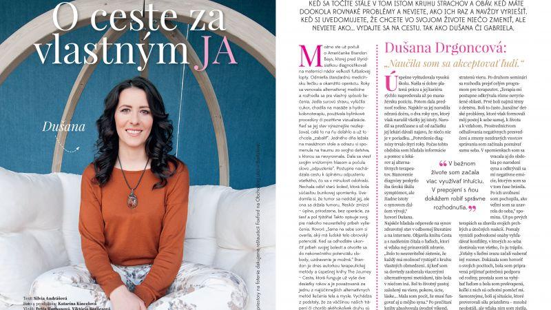 O ceste za vlastným JA, časopis Evita